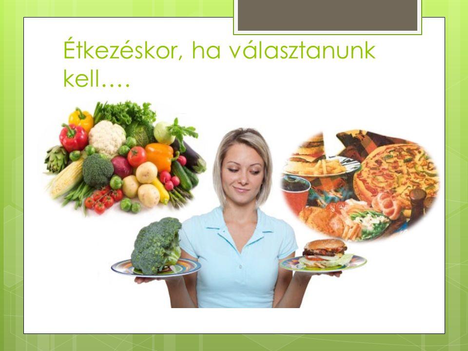 Étkezéskor, ha választanunk kell….