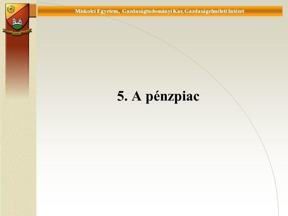 Universität Miskolc, Fakultät für Wirtschaftswissenschaften, Istitut für Wirtschaftstheorie 5.