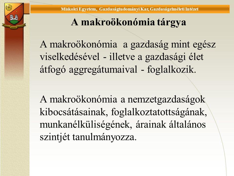 Universität Miskolc, Fakultät für Wirtschaftswissenschaften, Istitut für Wirtschaftstheorie 2.