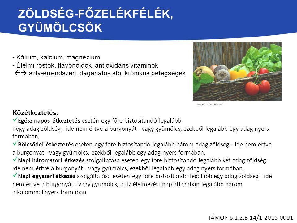 - Kálium, kalcium, magnézium - Élelmi rostok, flavonoidok, antioxidáns vitaminok  szív-érrendszeri, daganatos stb.
