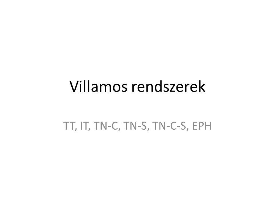 Villamos rendszerek TT, IT, TN-C, TN-S, TN-C-S, EPH