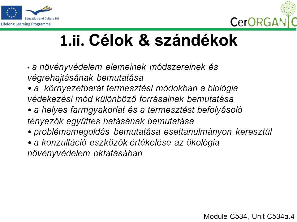 Riasztás Természetes és mesterséges Module C534, Unit C534a.4