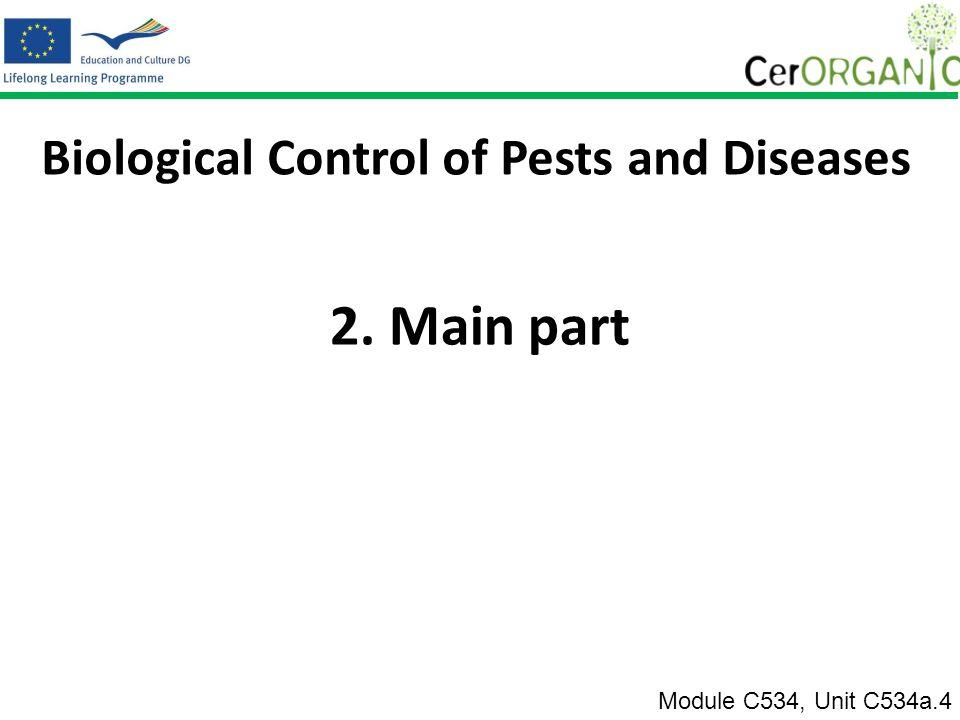 2.i. Szószedet Module C534, Unit C534a.4 Ökológiai és biológiai növényvédelem