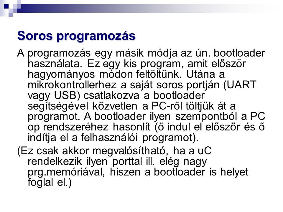Soros programozás A programozás egy másik módja az ún.