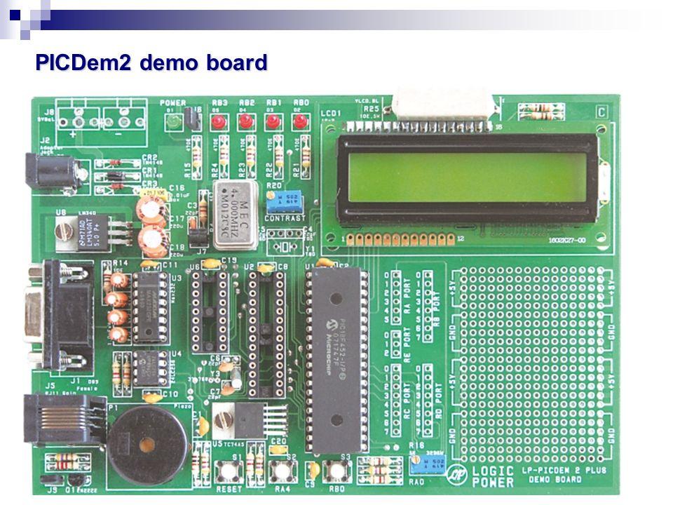 PICDem2 demo board