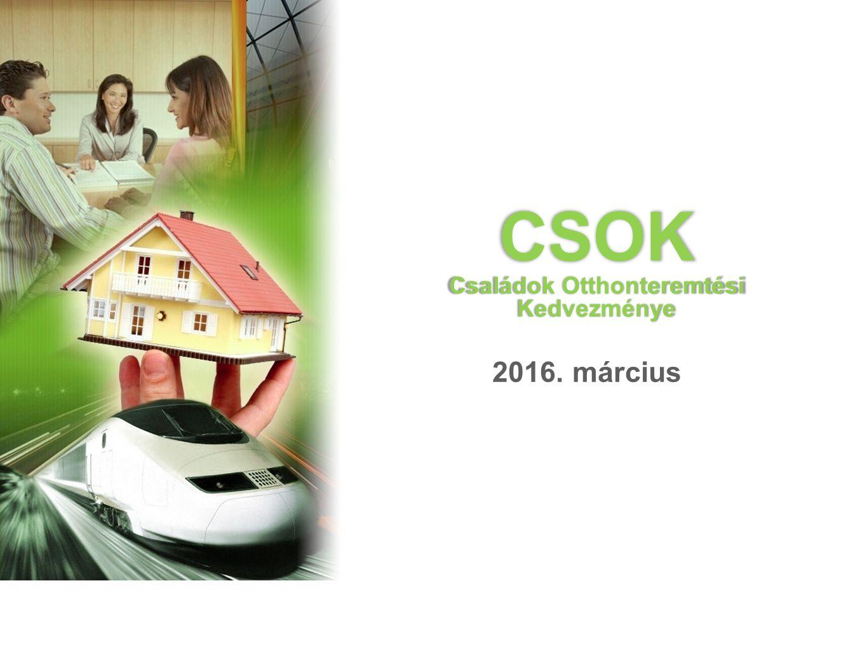CSOK Családok Otthonteremtési Kedvezménye 2016. március Külső Értékesítési Főosztály