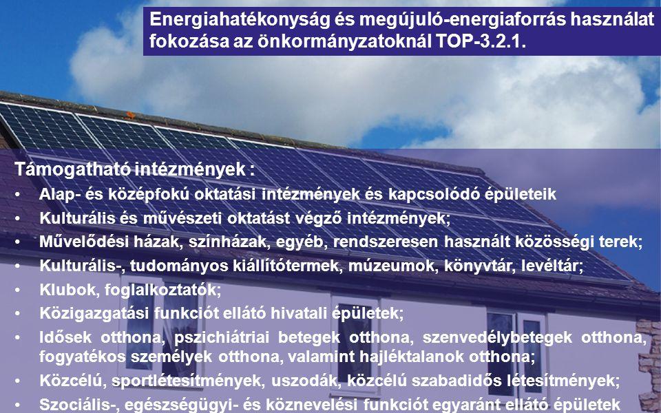 Szemléletformálási programok Cél: széles körű energia- és klímatudatos szemlélet kialakítását célzó programok támogatása Civil szervezetek; Önkormányzatok; Oktatási intézmények; Költségvetési szervek
