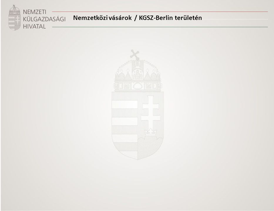 Nemzetközi vásárok / KGSZ-Berlin területén