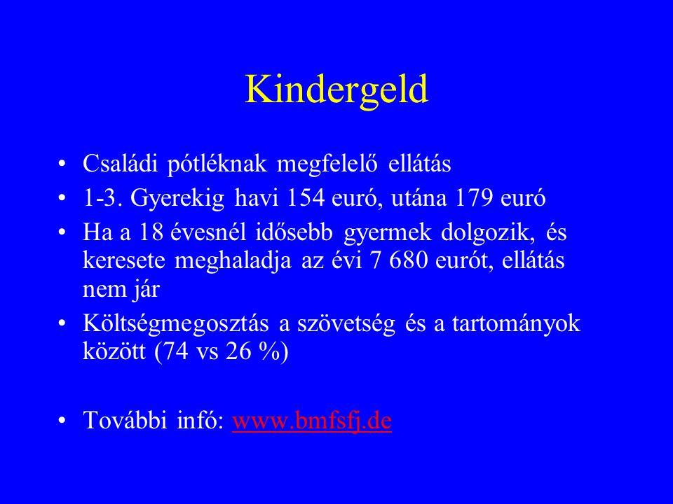 Kindergeld Családi pótléknak megfelelő ellátás 1-3.