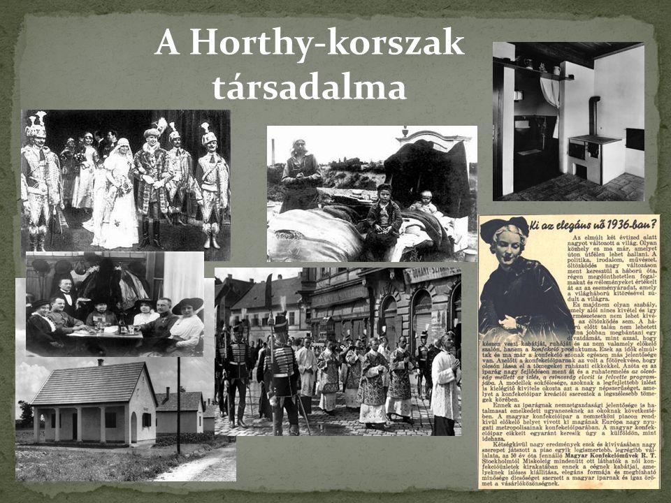 A Horthy-korszak társadalma