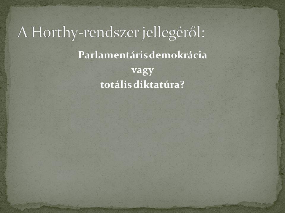 Parlamentáris demokrácia vagy totális diktatúra