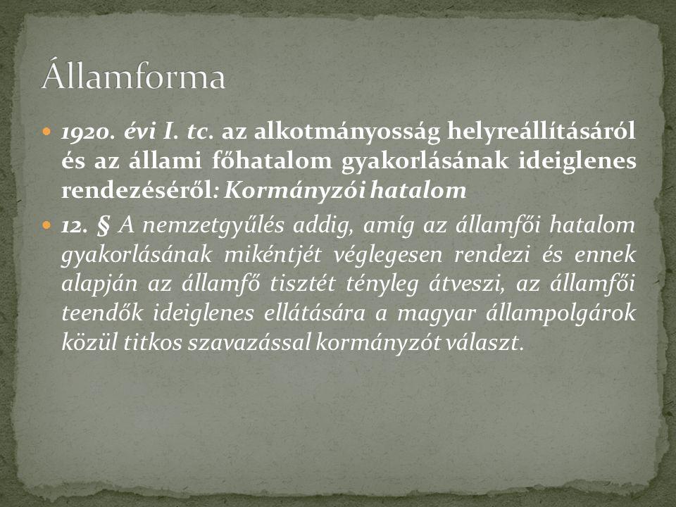 1920. évi I. tc.