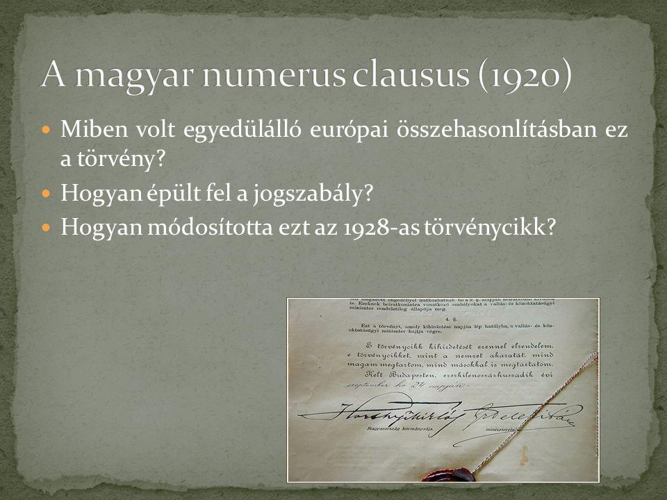 Miben volt egyedülálló európai összehasonlításban ez a törvény.