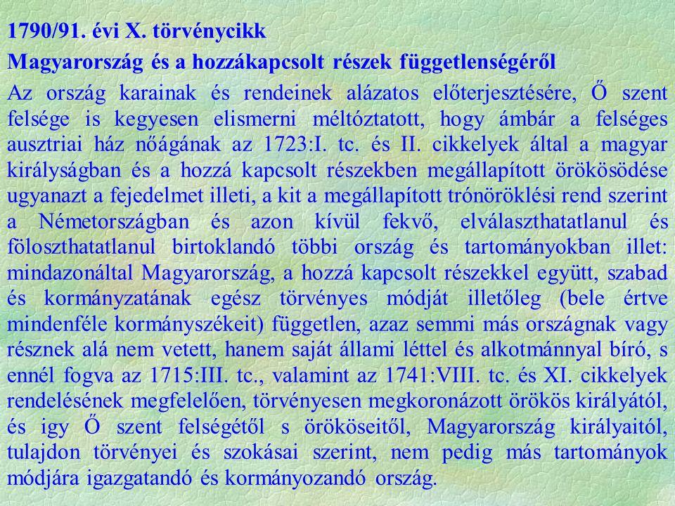 1790/91. évi X.
