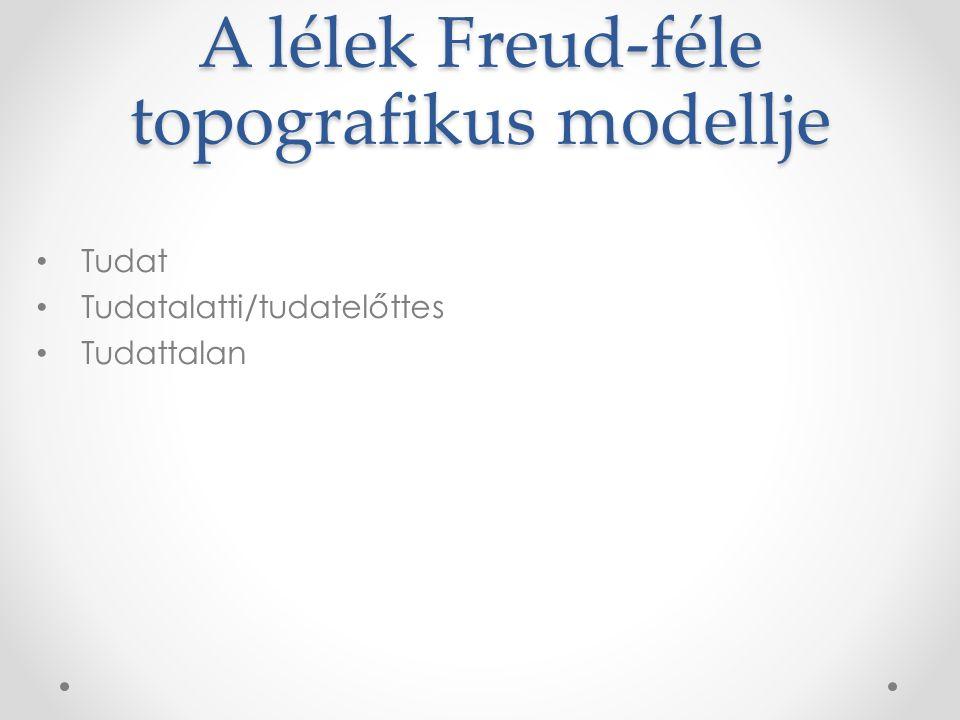 Pszichoanalízis Sigmund Freud (1856-1939) A tudattalan lelki folyamatokra irányítja a figyelmet Kora gyermekkori élmények, szexualitás, agresszió ösztöne Módszer: szabad asszociáció