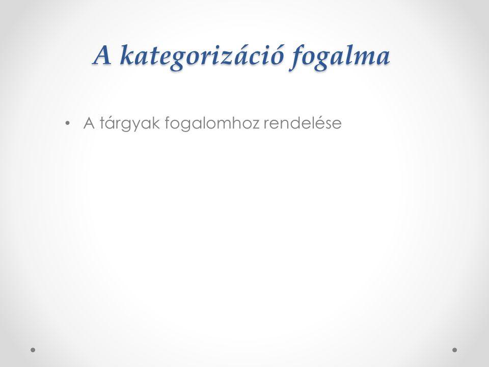 A fogalom két csoportja Prototípus: a fogalom legjobb példáinak leírását tartalmazza A fogalom magja: a fogalomhoz tartozás szempontjából kritikus tulajdonságokból áll
