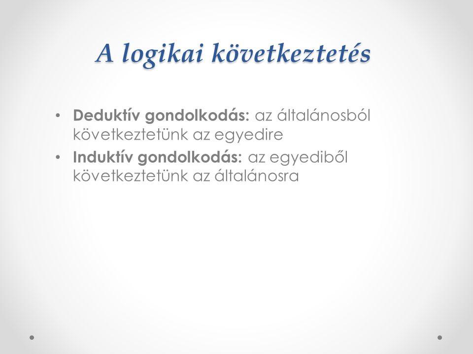 A kategorizáció fogalma A tárgyak fogalomhoz rendelése