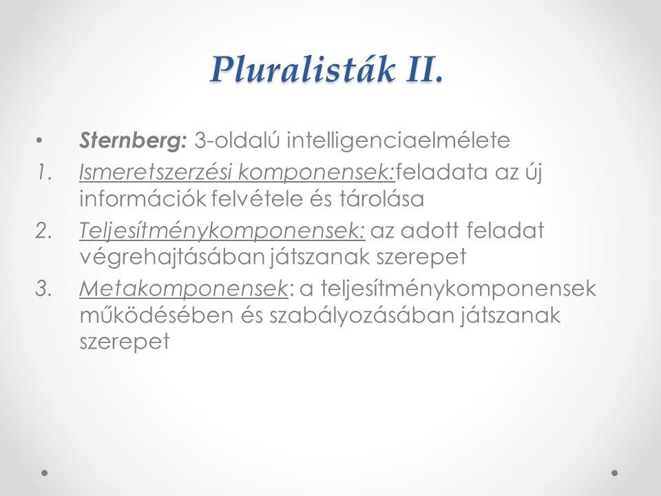 Pluralisták I.
