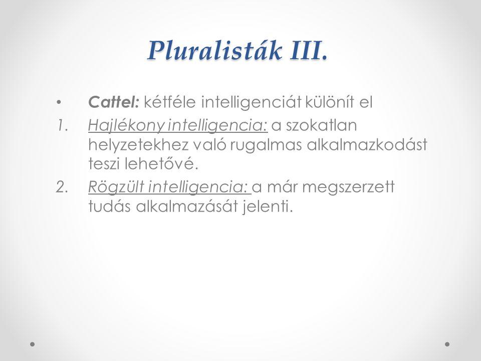 Pluralisták II.