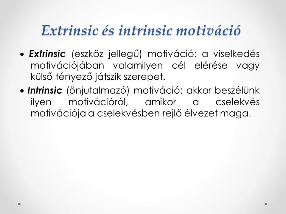 Arousalszint elmélet Minden ember az optimális arousalszint elérésére törekszik  egyénenként változó Az alapvető motívumok (pl.