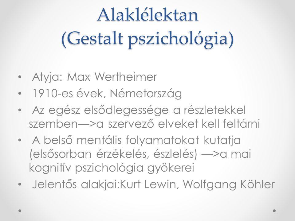 Behaviorizmus John B. Watson (1878-1958) 1913-Hogyan látja a behaviorista a pszichológiát.