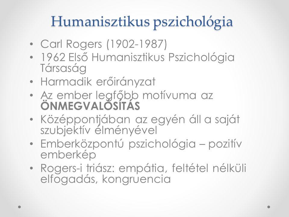 Alaklélektan (Gestalt pszichológia) Atyja: Max Wertheimer 1910-es évek, Németország Az egész elsődlegessége a részletekkel szemben—>a szervező elveket kell feltárni A belső mentális folyamatokat kutatja (elsősorban érzékelés, észlelés) —>a mai kognitív pszichológia gyökerei Jelentős alakjai:Kurt Lewin, Wolfgang Köhler