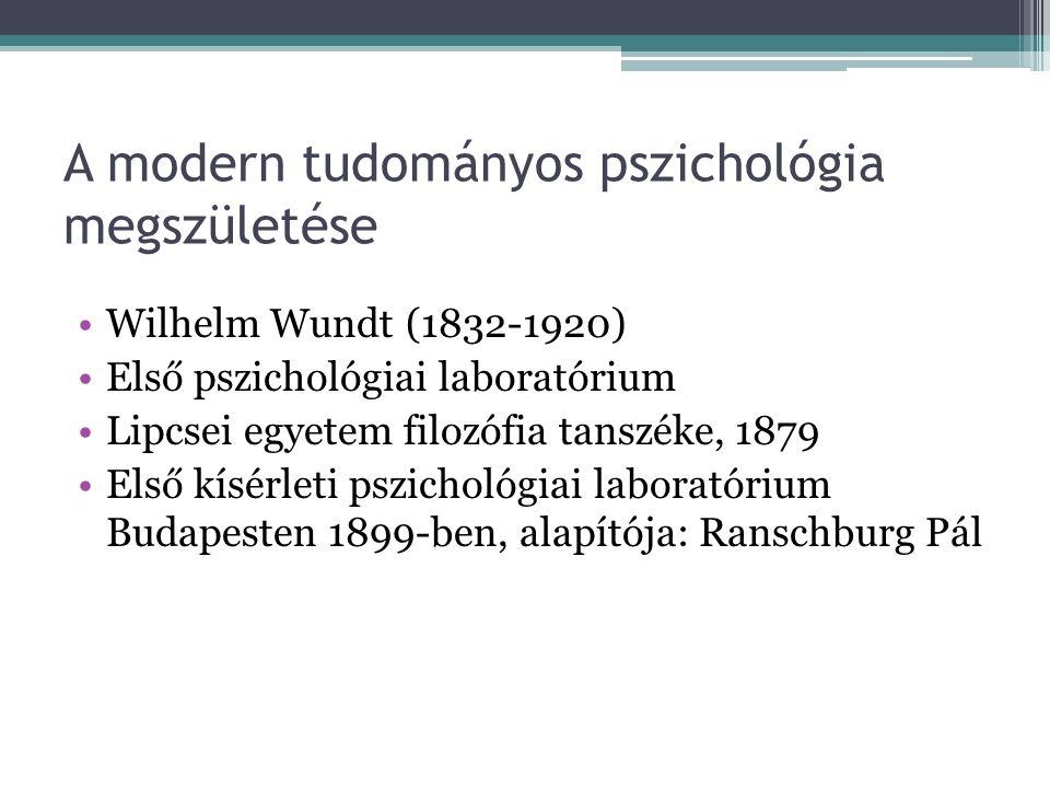 Fordulópont: a XIX.század fontos fejleményei Idegfiziológiai kutatások Pozitivizmus – mint tudományfilozófiai irányzat, a természettudományos gondolko