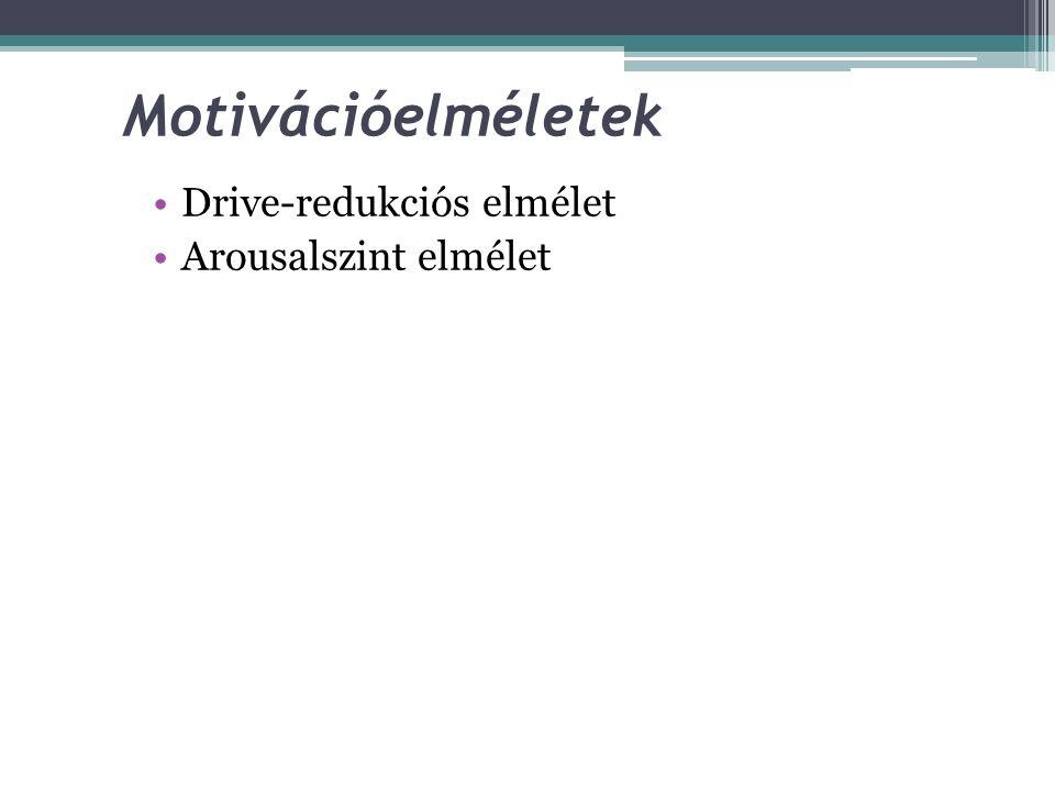 Másodlagos drive-ok Tanulás során alakulnak ki ––> minden olyan tárgy, helyzet amely az elsődleges drive- ok kielégítésében szerepet játszanak, maguk
