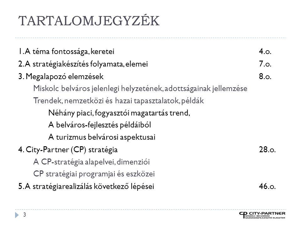 Győr 24  Győri Bevásárló Utcák alapítvány létrehozása  Közös marketing tevékenység, kiadványok, programok, kampányok, reklám  Minőségfejlesztés,  Nyitva tartás összehangolása  Parkolási gondok csökkentése, megszüntetése  Munkacsoportok létrehozása (stratégia, marketing, parkolás, nyitva tartás)  Városépítészeti megoldások támogatása  Helyiséggazdálkodás  Kitáblázás,  Péntek 18-hétfő 8-ig díjmentes parkolás célja,  Városi programokra rákapcsolódni  Játszóház,  Törzsvásárlói kártya,  Bevásárló nap csütörtökönként 19-ig, minden 3.