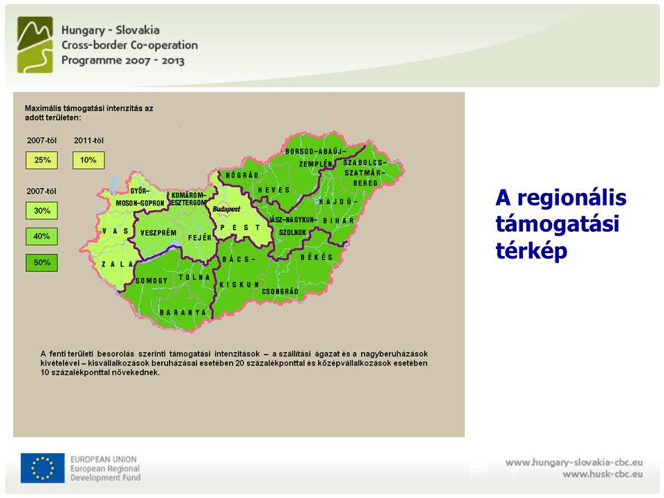 A regionális támogatási térkép