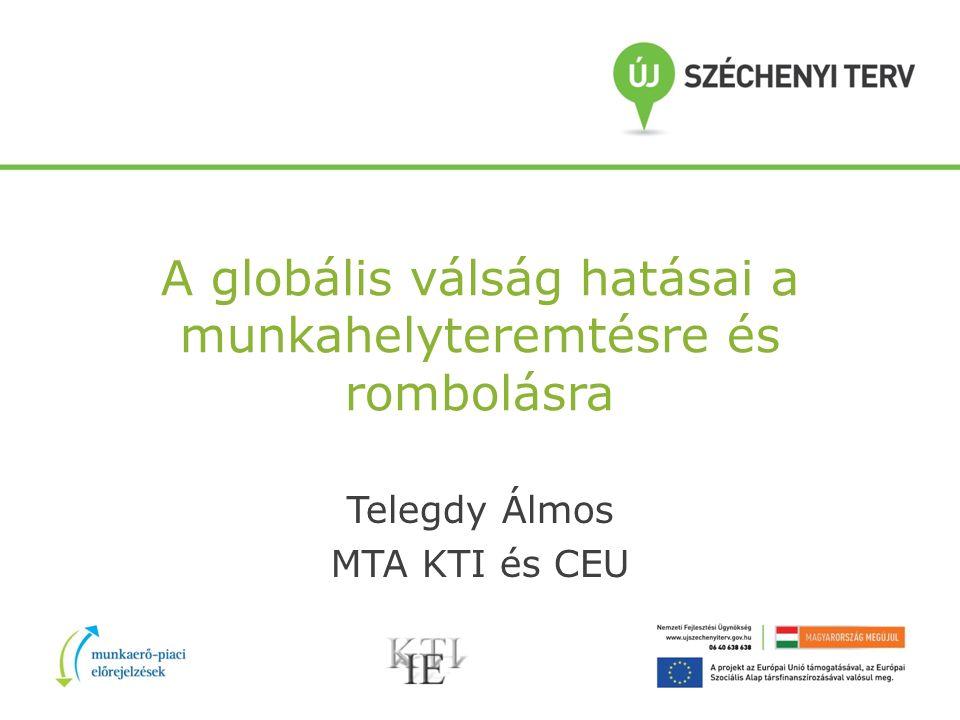 A globális válság hatásai a munkahelyteremtésre és rombolásra Telegdy Álmos MTA KTI és CEU