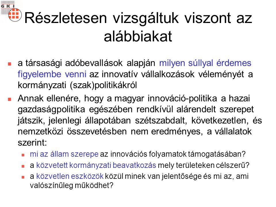 Vállaljon a kormány közvetlen szerepet az innovációk támogatásában.