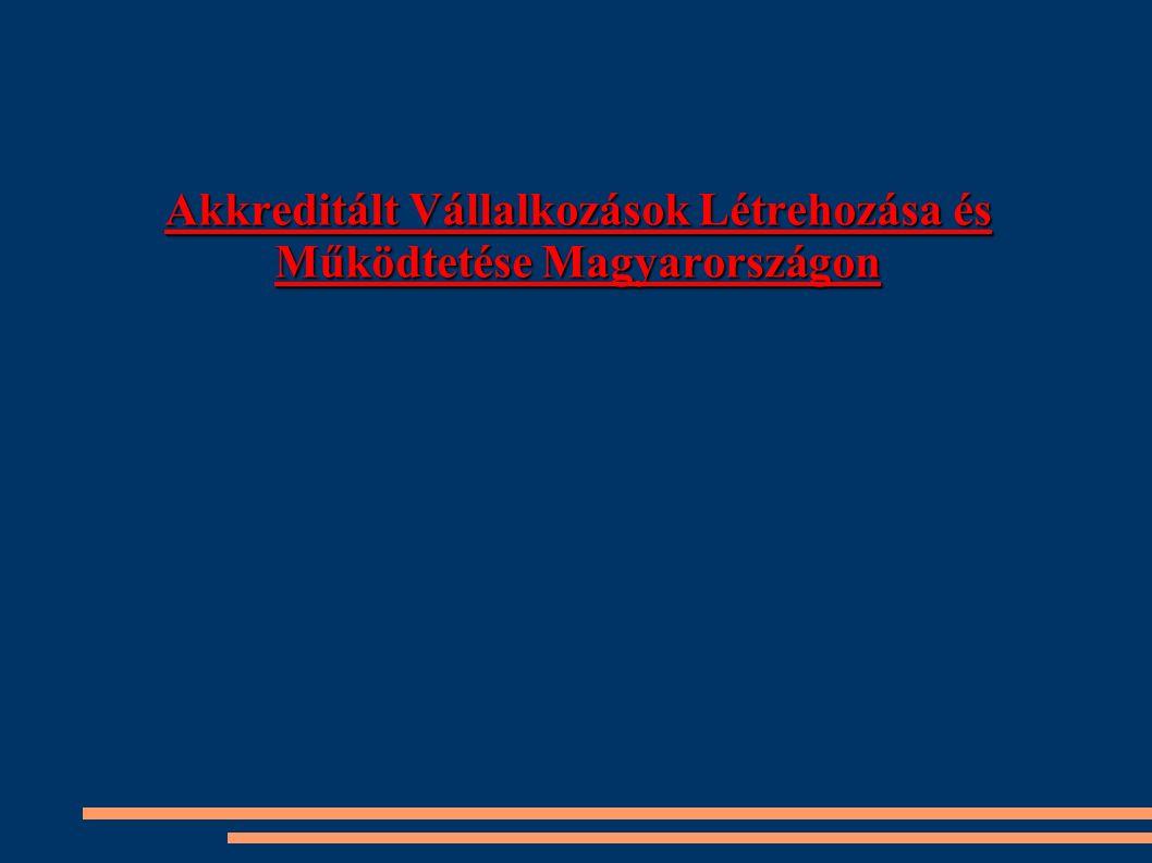 Akkreditált Vállalkozások Létrehozása és Működtetése Magyarországon