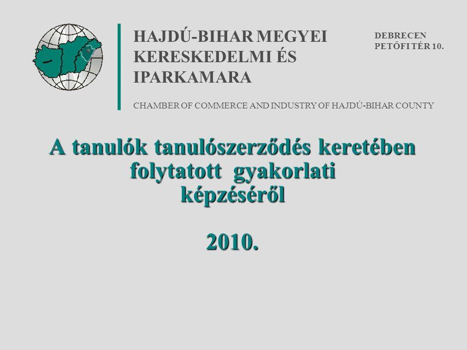 A tanulók tanulószerződés keretében folytatott gyakorlati képzéséről 2010.