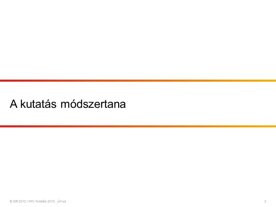 © GfK 2012 | KKV Kutatás| 2013.