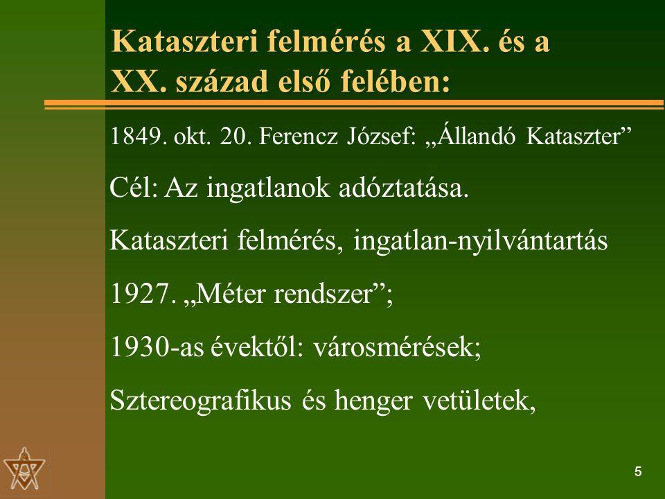 5 Kataszteri felmérés a XIX. és a XX. század első felében: 1849.