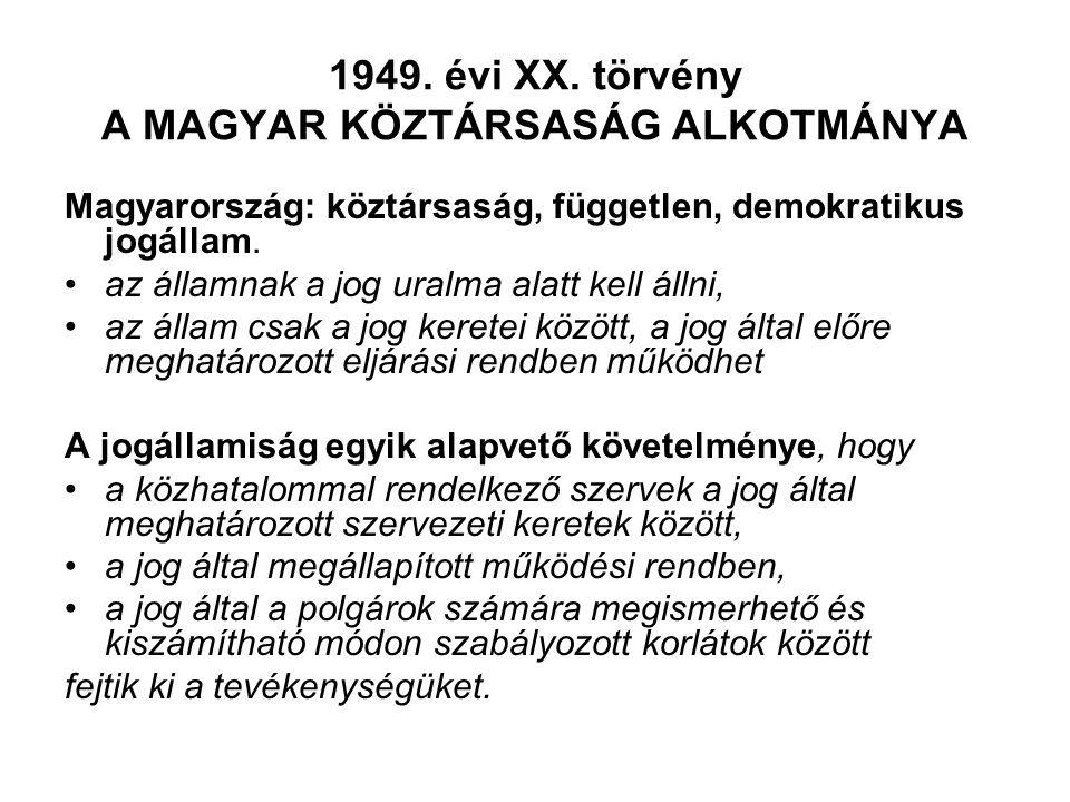 1949. évi XX.