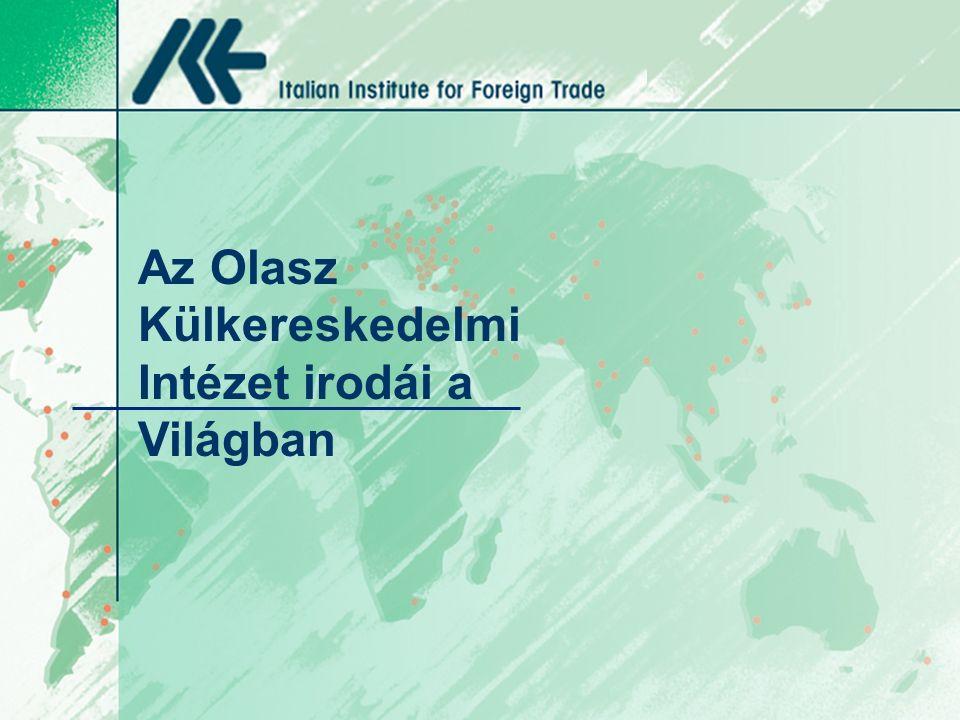 Az Olasz Külkereskedelmi Intézet irodái a Világban