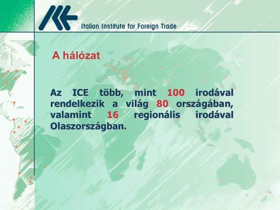 Az ICE több, mint 100 irodával rendelkezik a világ 80 országában, valamint 16 regionális irodával Olaszországban.