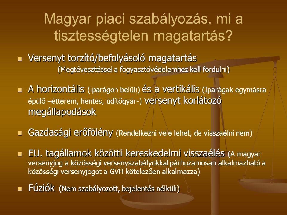Magyar piaci szabályozás, mi a tisztességtelen magatartás? Versenyt torzító/befolyásoló magatartás Versenyt torzító/befolyásoló magatartás (Megtéveszt