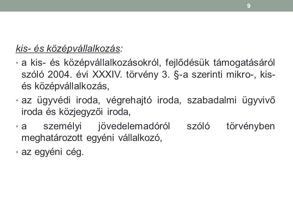 kis- és középvállalkozás: a kis- és középvállalkozásokról, fejlődésük támogatásáról szóló 2004.