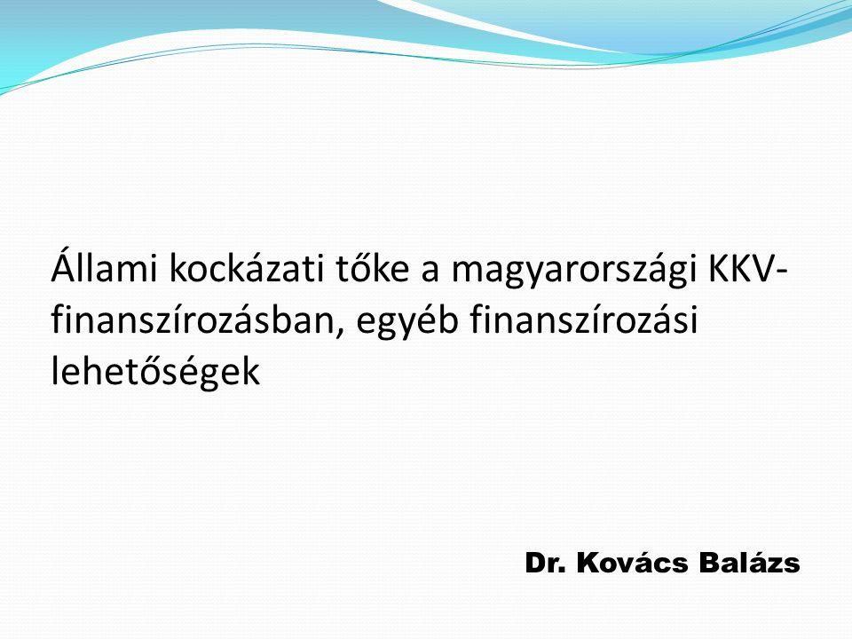 Állami kockázati tőke a magyarországi KKV- finanszírozásban, egyéb finanszírozási lehetőségek Dr.