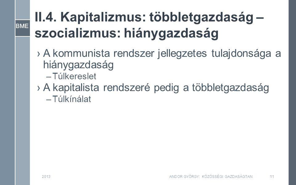 BME II.4. Kapitalizmus: többletgazdaság – szocializmus: hiánygazdaság 2013ANDOR GYÖRGY: KÖZÖSSÉGI GAZDASÁGTAN11 ›A kommunista rendszer jellegzetes tul