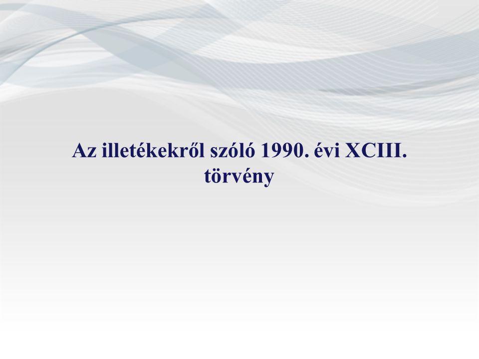 Az illetékekről szóló 1990. évi XCIII. törvény