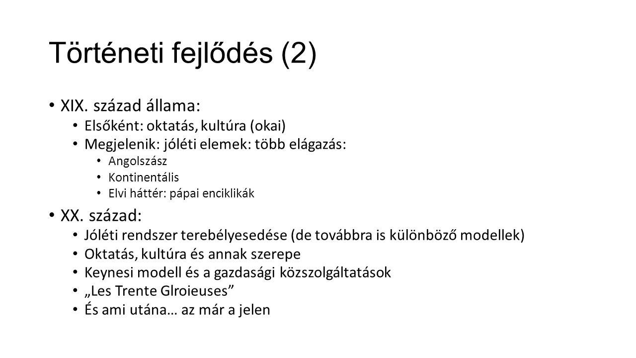 Történeti fejlődés (2) XIX.