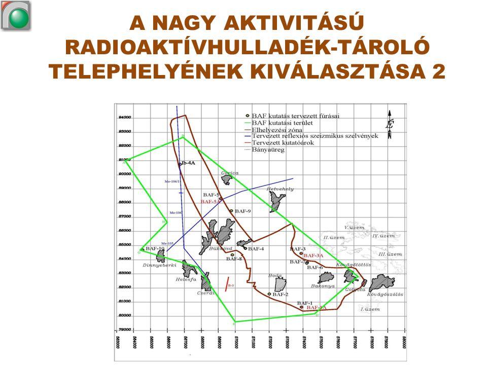 A NAGY AKTIVITÁSÚ RADIOAKTÍVHULLADÉK-TÁROLÓ TELEPHELYÉNEK KIVÁLASZTÁSA 2