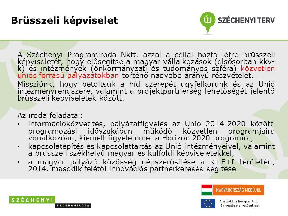 Brüsszeli képviselet A Széchenyi Programiroda Nkft.