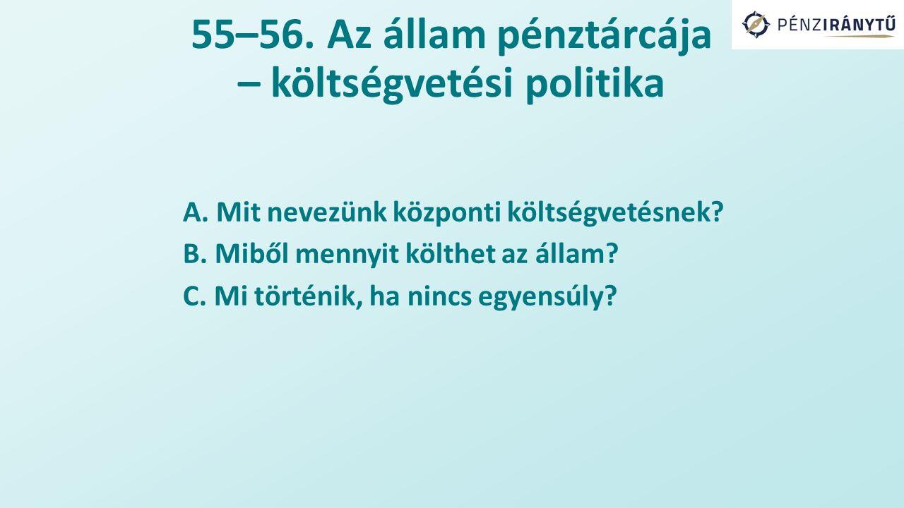 55–56. Az állam pénztárcája – költségvetési politika A.