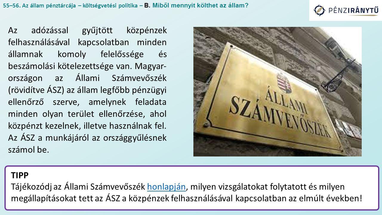 Az adózással gyűjtött közpénzek felhasználásával kapcsolatban minden államnak komoly felelőssége és beszámolási kötelezettsége van. Magyar országo