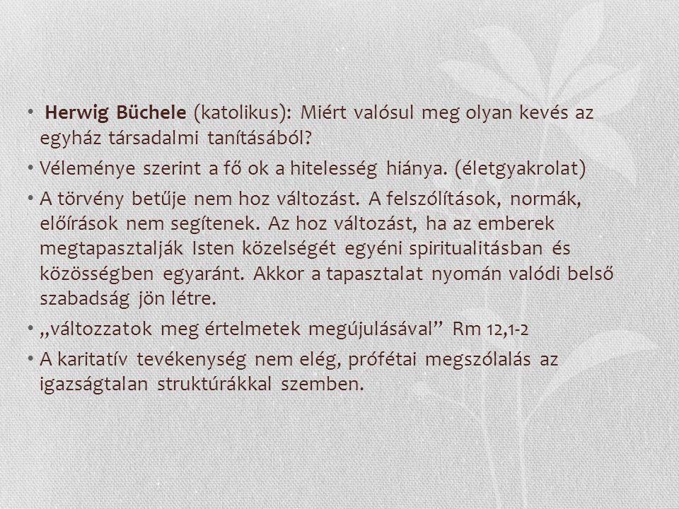 Herwig Büchele (katolikus): Miért valósul meg olyan kevés az egyház társadalmi tanításából.